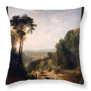 Crossing The Brook Throw Pillow