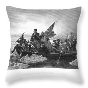 Crossing The Delaware Throw Pillow by Granger