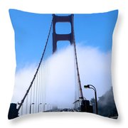 Crossing The Fog Throw Pillow