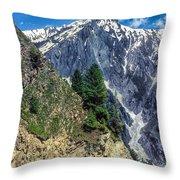 Crossing The Himalayas Throw Pillow