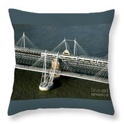 Crossing The Thames Throw Pillow