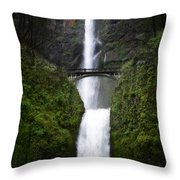 Crossing The Water Fall Throw Pillow