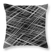 Mono Lines 3 Throw Pillow