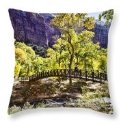 Crossover The Bridge - Zion Throw Pillow
