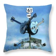 Crossroads In Clarksdale Throw Pillow