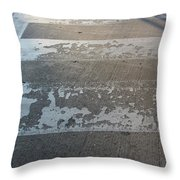 Crosswalk Shadow 1 Throw Pillow