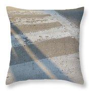 Crosswalk Shadow 2 Throw Pillow