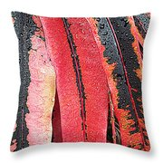 Crotans With Dew Throw Pillow