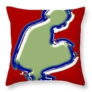 Crouching Figure Throw Pillow