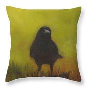 Crow 13 Throw Pillow
