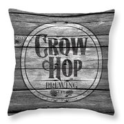 Crow Hop Brewing Throw Pillow