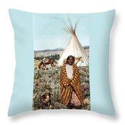 Crow Indian 1902 Throw Pillow