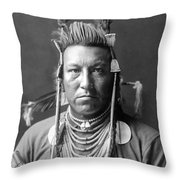 Crow Indian Circa 1908 Throw Pillow by Aged Pixel