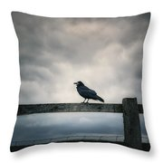 Crow Throw Pillow by Joana Kruse