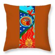 Crow Moon And Sun Throw Pillow