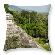 Crowd At Palenque Throw Pillow