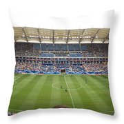 Crowd In A Stadium To Watch A Soccer Throw Pillow