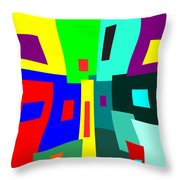 Crowded At The Bottom Throw Pillow