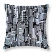 Crowded City Throw Pillow