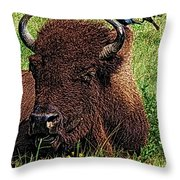 Crowded Hump L Throw Pillow