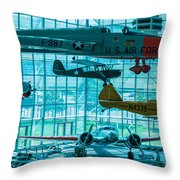 Crowded Skies Throw Pillow