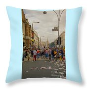 Crowds At Carnival Notting Hill Celebrations Throw Pillow