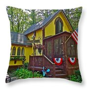 Crowell's Thicket In Asbury Grove In South Hamilton-massachusetts  Throw Pillow