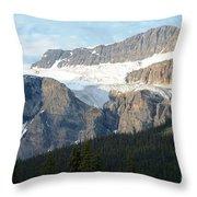 Crowfoot Glacier Throw Pillow