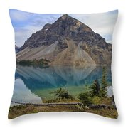 Crowfoot Mountain Banff Np Throw Pillow