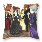 Crowgirl In The Dress Throw Pillow