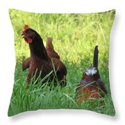 Crowing Rooster Throw Pillow