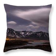 Crowley Lake At Night Throw Pillow