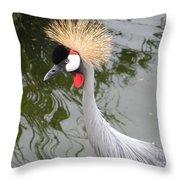 Crown Bird 1 Throw Pillow