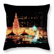Crown Center Christmas - Kansas City-1 Throw Pillow
