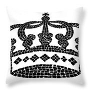 Crown Graphic Design Throw Pillow