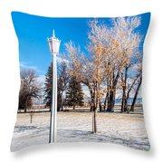 Crown Lantern Throw Pillow