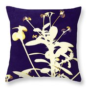 Crown Of Thorns - Indigo Throw Pillow by Shawna Rowe