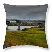 Crown Point Lake Champlain Panorama Throw Pillow