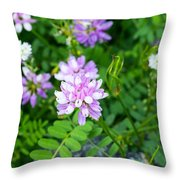 Crown Vetch Wildflowers Throw Pillow