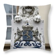 Crowned Lion  Throw Pillow