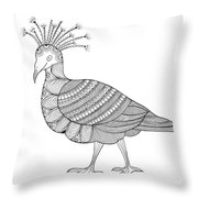 Crowned Pigeon Throw Pillow by MGL Meiklejohn Graphics Licensing