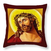Crowned With Thorns Throw Pillow