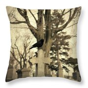 Crow's Cross Throw Pillow