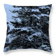 Crows Perch - Snowstorm - Snow - Tree Throw Pillow