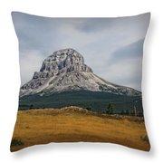 Crowsnest Mountain Throw Pillow