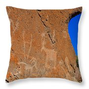 Capital Reef Rock Art Panel A Throw Pillow