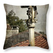 Cruceiro In Galicia Throw Pillow