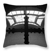 Crucifix And Skylight Throw Pillow