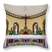 Crucifix And Angels Throw Pillow