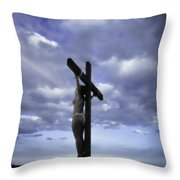 Crucifix In The Light Throw Pillow